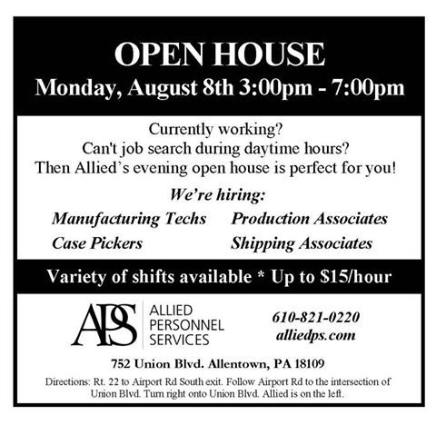 Evening Open House 8-8-16