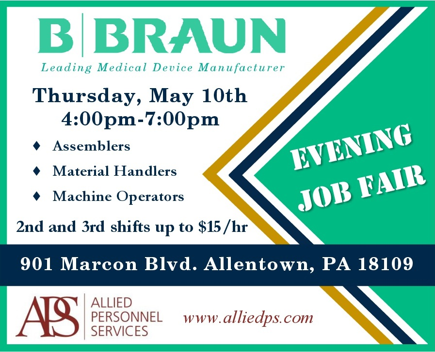 Job Fair at B Braun's Allentown location