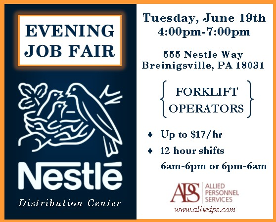 Nestle Job Fair 6-19-18