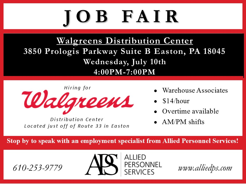 Walgreens Job Fair 7-10-19 Pocono Record JPG